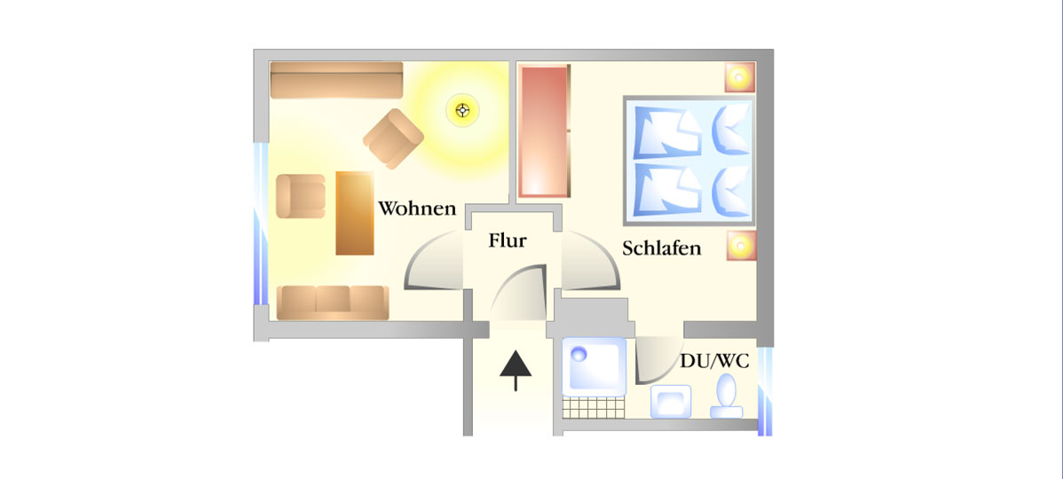 Grundriss Appartment 7